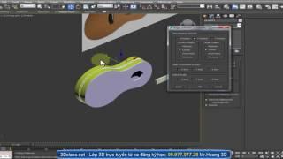 3Dsmax nang cao cac lenh Spline pho bien ve cay dan Guitar - 3dclass.net MrHoang 0907707728