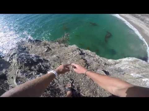Man Survives Dangerous Cliff Jump