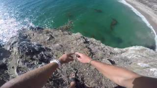 Man Survives Dangerous Cliff Jump