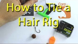 How to tie a basic hair rig for carp fishing