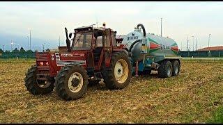 [GoPro] FiatAgri 100/90 & Grazioli Europa 160 - Spargimento liquame 201 *HD*