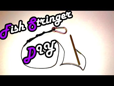 Diy how to build your own fish stringer spearfishing for How to use a fish stringer