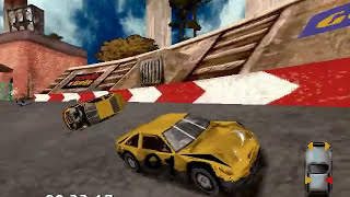 Destruction Derby 2 (PC) - Intro and Arena gameplay
