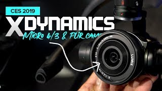 Micro 4/3 and FLIR camera on the Evolve Drone by XDynamics