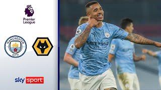 City startet Feuerwerk spät | Manchester City - Wolverhampton Wanderers 4:1 | Highlights - EPL