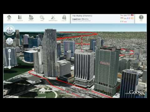 GPS tracking through Downtown Miami by Motomon