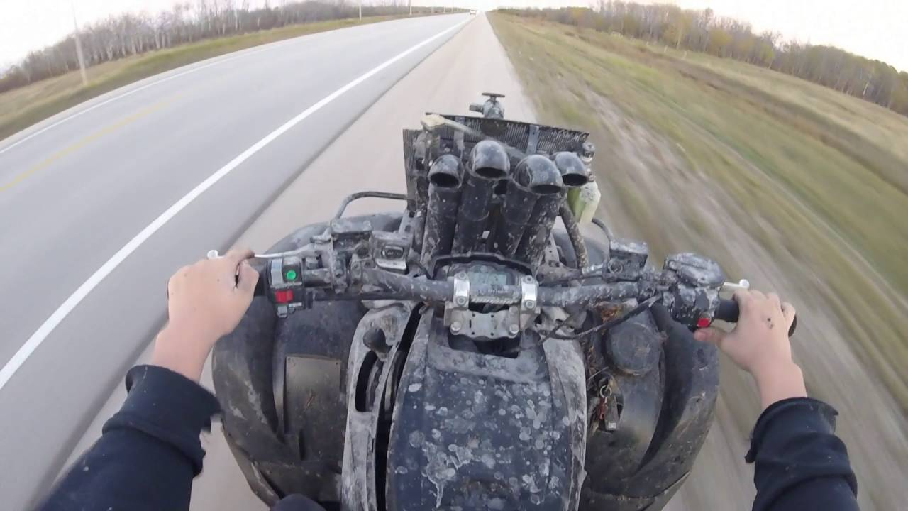 2014 yamaha grizzly 700 top speed - YouTube