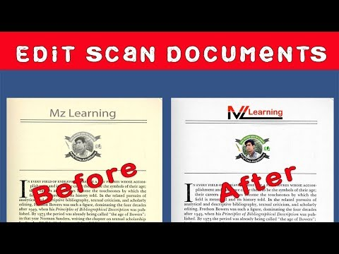 How To Edit  Scanned Photos And  Documents  With One Click  In Acrobat Pro DC 2019