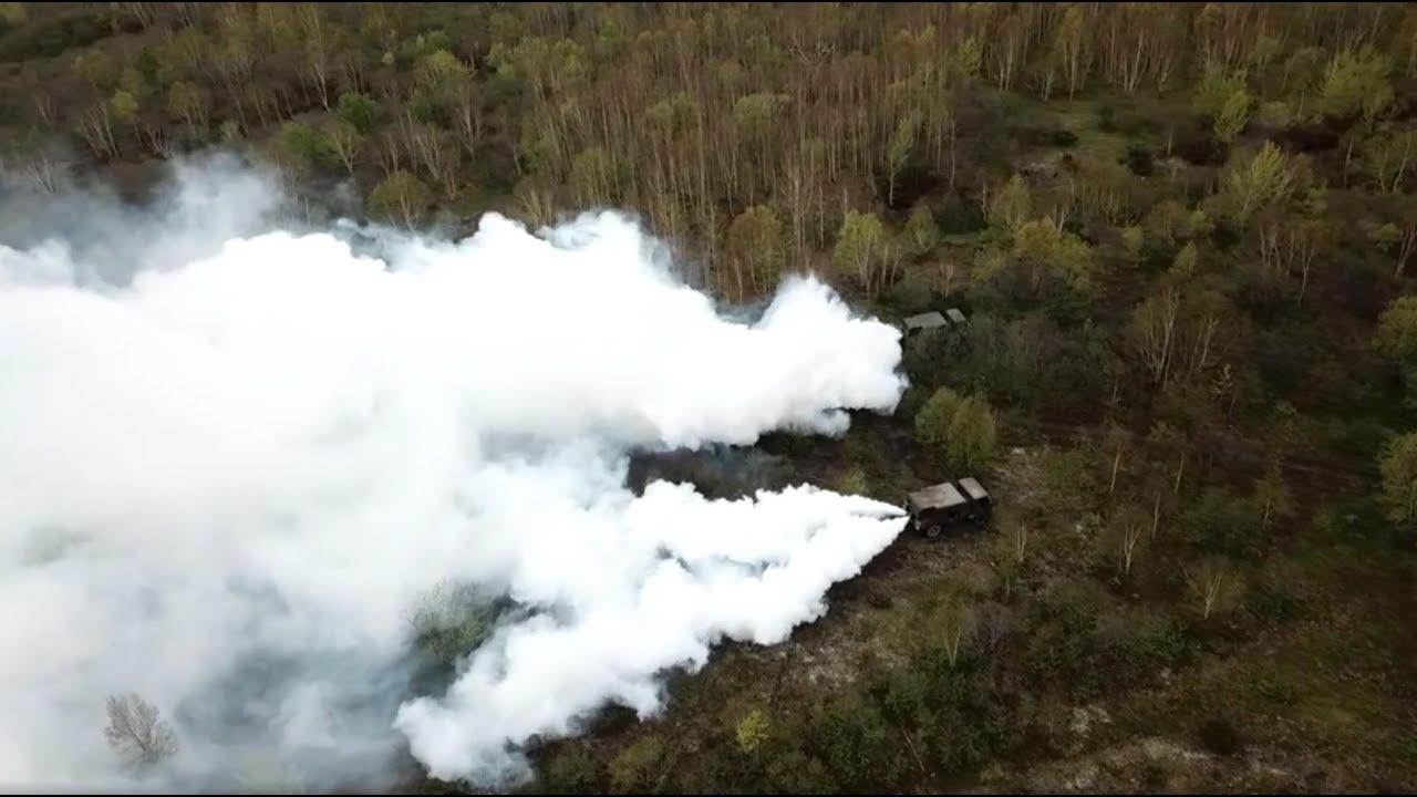 На Камчатке С-400 под прикрытием дымовых машин отразили атаку условного противника