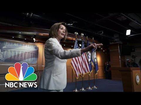 Pelosi Clashes With Reporter Who Asks If She Hates Trump: 'I Don't Hate Anyone' | NBC News