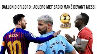 Ballon d'Or 2019 : Aguero met Sadio Mané devant Messi