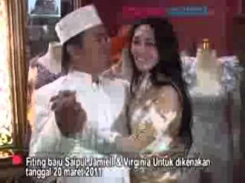 Saipul Jamiell & Virginia Anggraeni Menikah Secara Adat Islam - CumiCumi.com