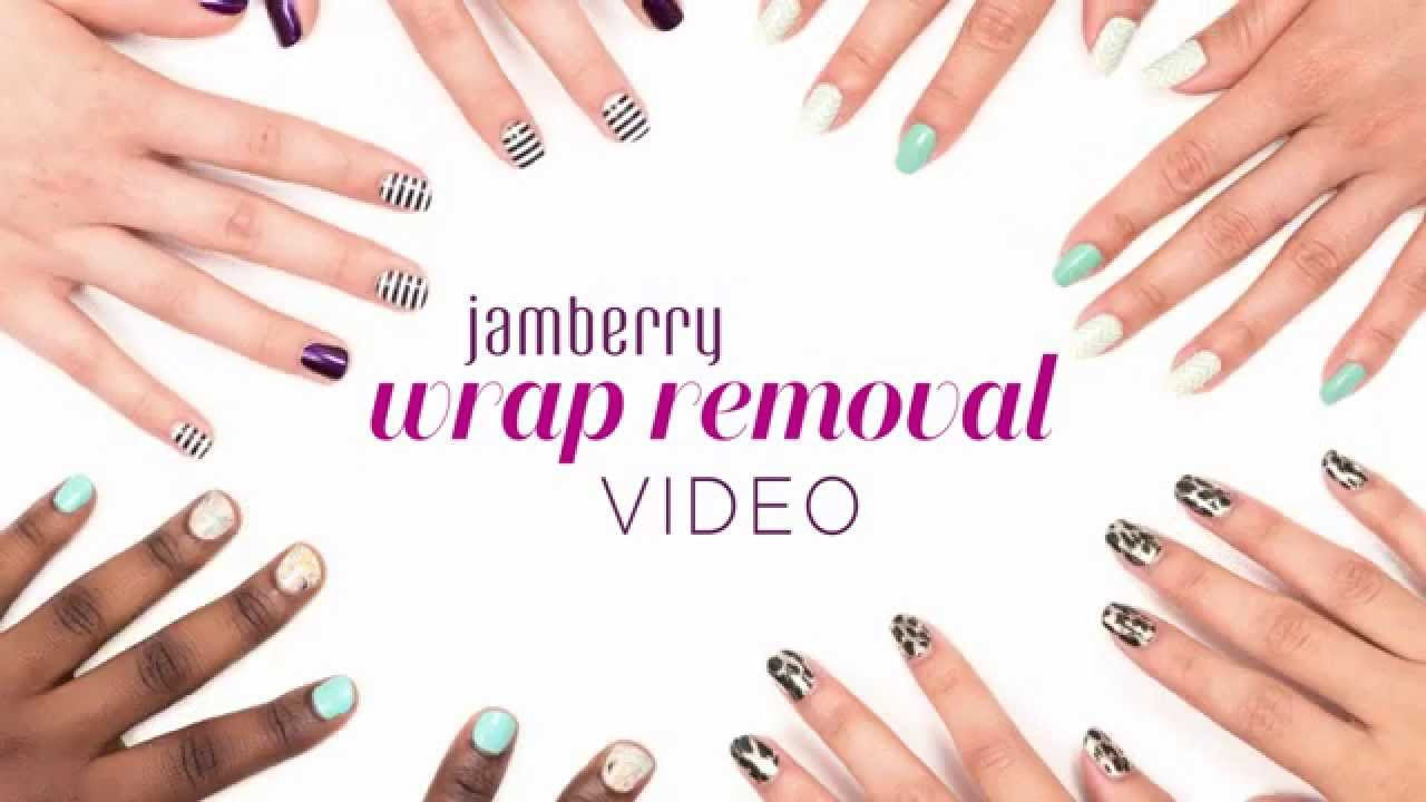 Jamberry Official Wrap Removal Video - YouTube