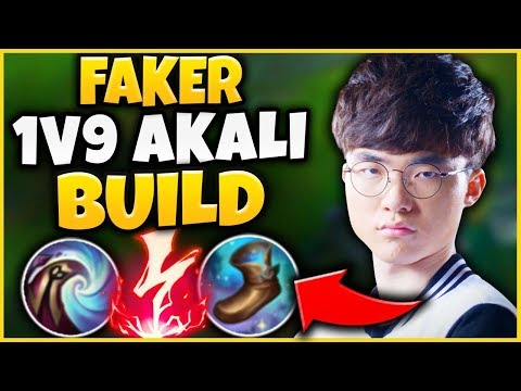 """FAKER'S NEW """"TRUE DAMAGE AKALI"""" BUILD IS INCREDIBLE! THIS DAMAGE IS NOT FAIR! - League of Legends"""