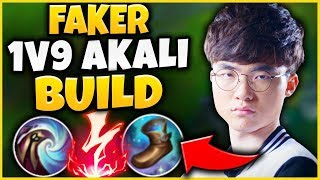 FAKER 39 S NEW TRUE DAMAGE AKALI BUILD IS INCREDIBLE THIS DAMAGE IS NOT FAIR League of Legends