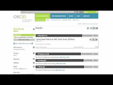Video tutorial - ORCID e ResearcherID