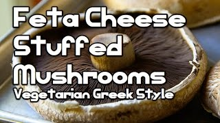 Feta Cheese Stuffed Veggy Mushrooms Recipe