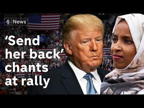 Trump supporters chant 'send her back' at mentions of Ilhan Omar