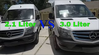 New 2017 Sprinter vs 2014 Sprinter 2.1L vs 3.0L Comparison