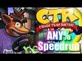 Crash Team Racing SPEEDRUN! any% in 54:31!!!