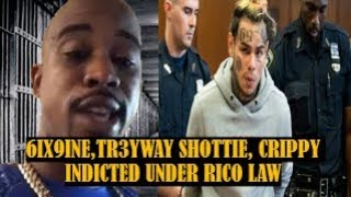 BREAKING NEWS: 6IX9INE, TR3YWAY SHOTTIE, CRIPPY Indicted Under RICO LAW Reportedly
