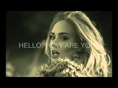 Adele - Hello Karaoke male version lower (-4) lyrics