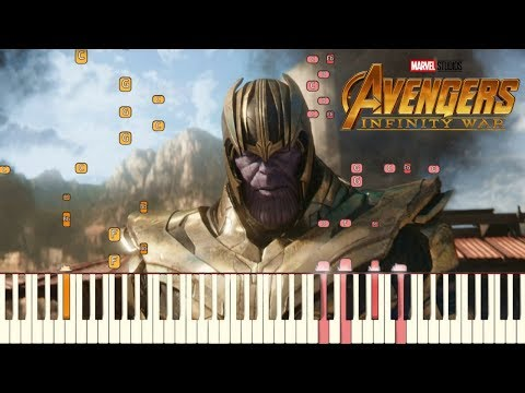 Avengers: Infinity War - Official Trailer #2 Music | Piano Tutorial (Synthesia) thumbnail