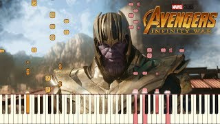Avengers: Infinity War - Official Trailer #2 Music   Piano Tutorial (Synthesia)