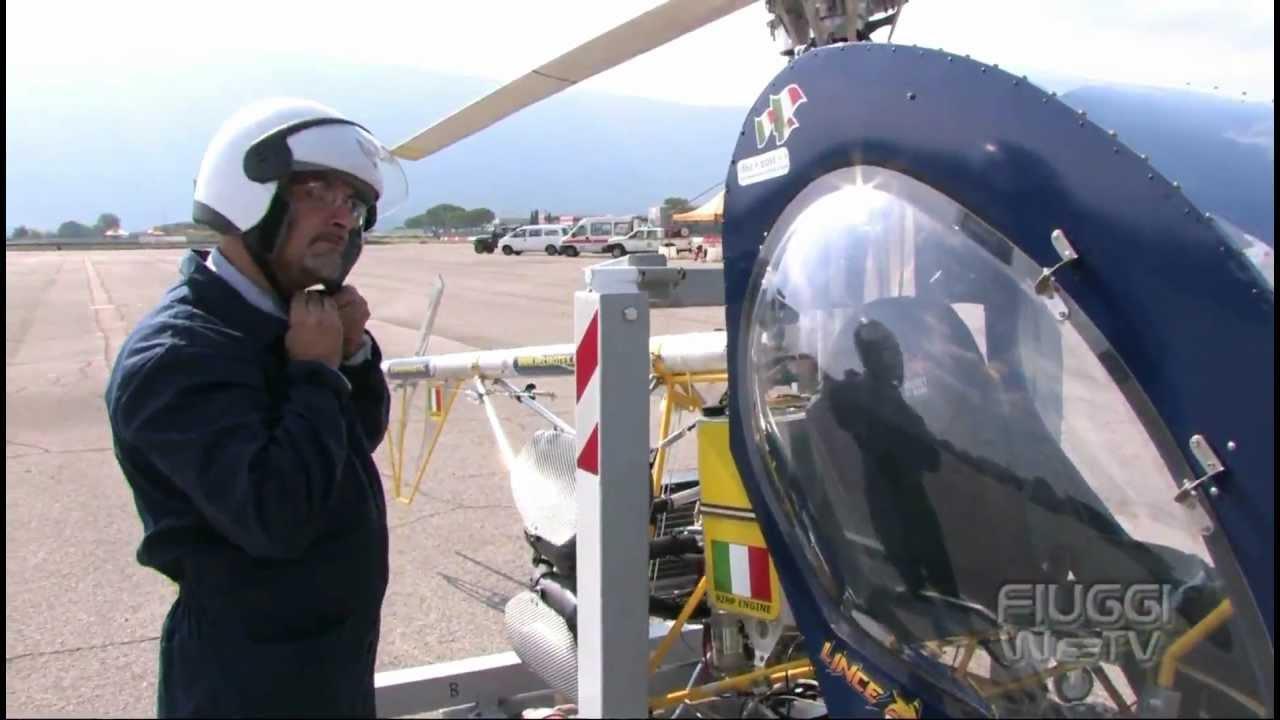Elicottero Monoposto : Elicottero ultraleggero lince di helirotex youtube