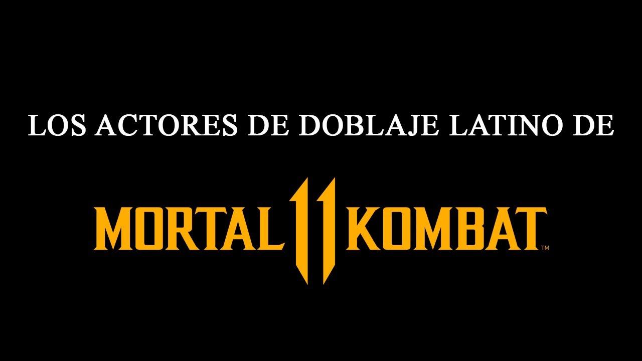 Los Actores de Doblaje Latino de Mortal Kombat 11
