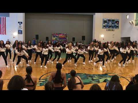 Varsity Pantherettes at Middle School Homecoming Pep Rally