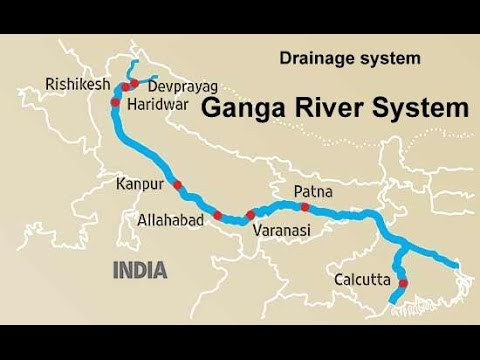 The Ganga River system Physical Geography of India - YouTube