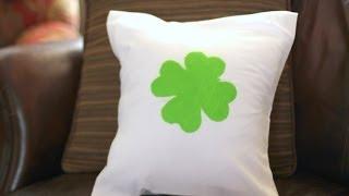 DIY: {No Sewing} Throw Pillow Tutorial in less than 8 minutes Thumbnail