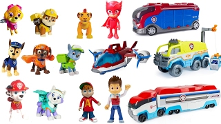 Repeat youtube video Best Learning Colors for Children Video -  Paw Patrol Pups Match to Paw Patroller Vehicles