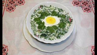 Окрошка с редисом на кефире  ⁄ Окрошка з редискою на кефірі  ⁄ Летние супы  ⁄ Холодные супы