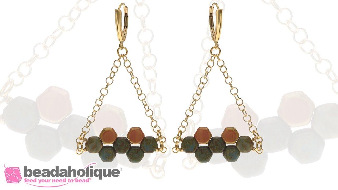 How to Make the Hodge Podge Honeycomb Bead Earring - YouTube