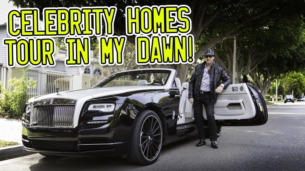Celebrity Homes Tour Around Beverly Hills In A Rolls Royce Dawn