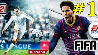 PES 2012 (MOD 2015) vs FIFA 14 Android Gameplay #1 Penalty Shootout