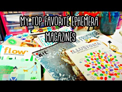 My Top Favorite Ephemera Magazines! | Cut outs for Art Journaling