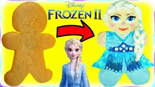 Disney Frozen 2 Elsa Gingerbread Man Cookie Decoration DIY