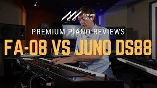 🎹Roland Juno DS88 vs Roland FA-08 Synthesizer/Workstation Comparison & Demo🎹