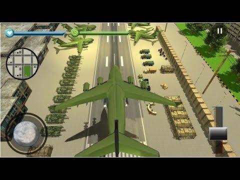 US Army Transport Game Army Cargo Plane Tanks / Drive Army Tank / Android Gameplay Video