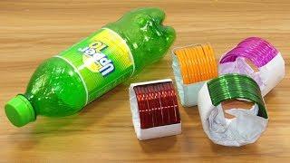 waste plastic bottle & old bangles craft idea | best out of waste | plastic bottle reuse idea