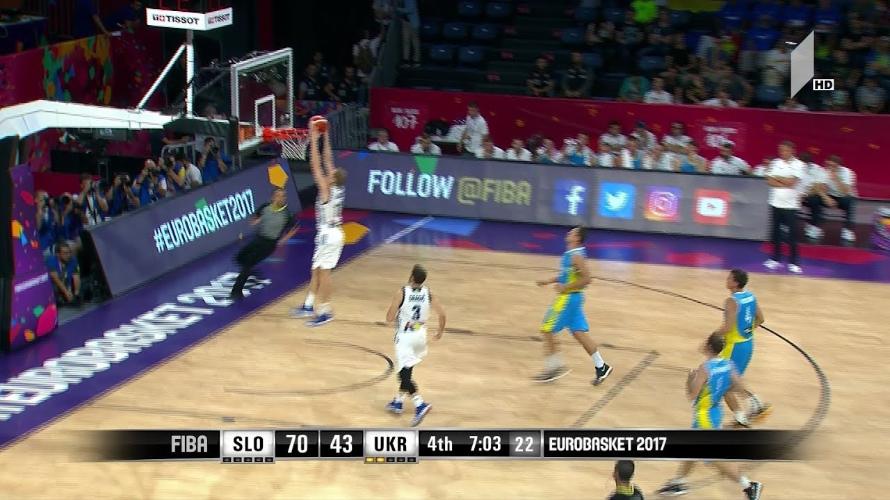 სლოვენია  უკრაინა მატჩის საუკეთესო მომენტები Eurobasket2017 Slovenia vs Ukraine Highlights