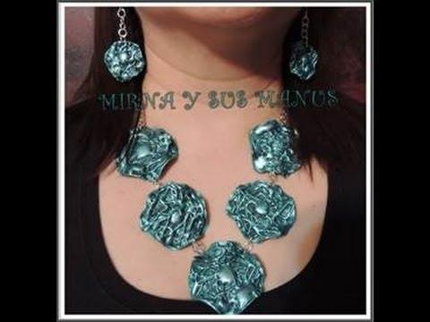 812278ca88b3 Collar reciclando plastico..... Recycling plastic neckleace