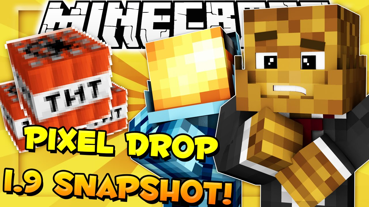 Minecraft (1.9 Snapshot) - Pixel Drop WORD GUESSING GAME w ...