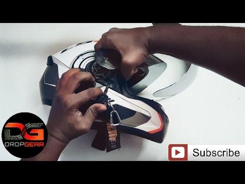 how to change helmet visor | ls2 helmet | dropgear