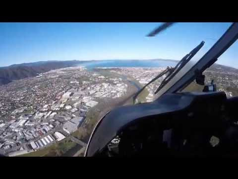 Flying over Lower Hutt in Wellington