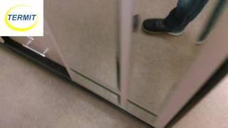 видео Купить шкаф-купе 3 двери ШК-4-3 с зеркалом венге\дуб недорого