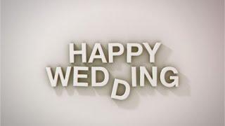 【旧】らぼわん 結婚式ムービーの無料素材 ストップモーションの「Happy Wedding」 thumbnail